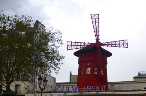 The Moulin Rouge, the red windmill!